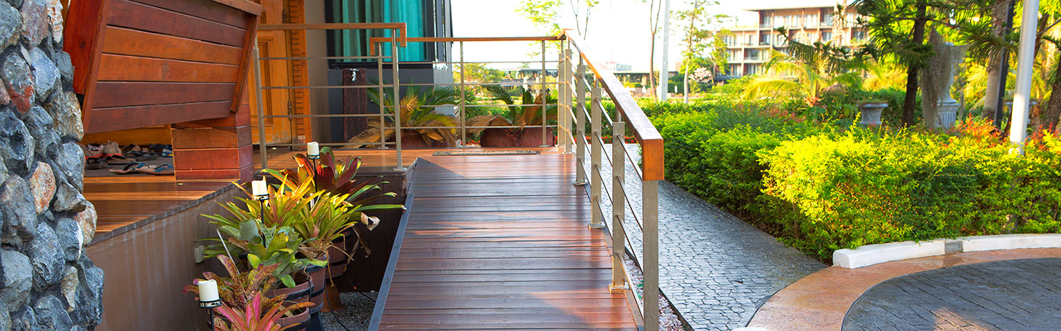 Decking with Handrail