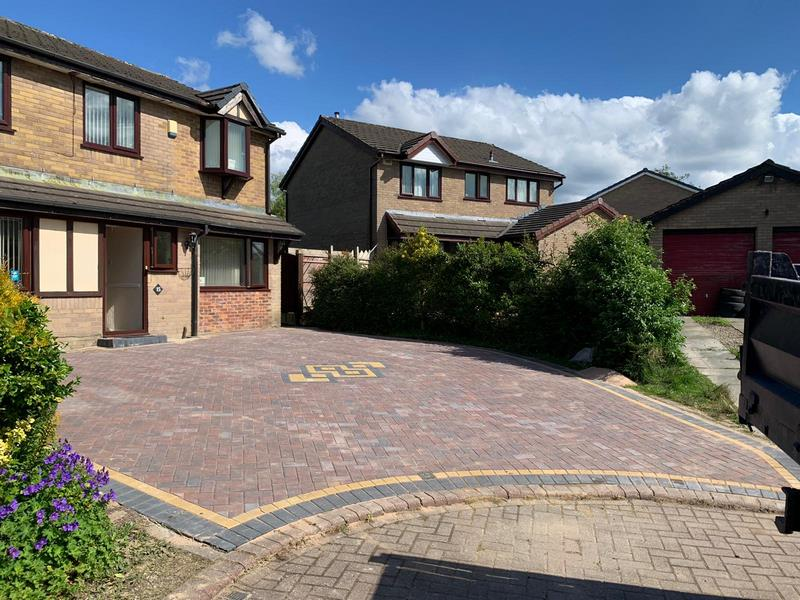Large Burnley Driveway Block Paving