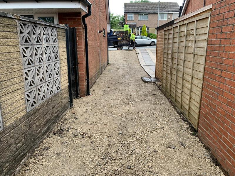 Small Side of House Block Paving